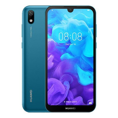 HUAWEI Y5 2019 Dual Sim (4G, 2GB RAM, 32GB ROM, Sapphire Blue) With 1 Year Official Warranty