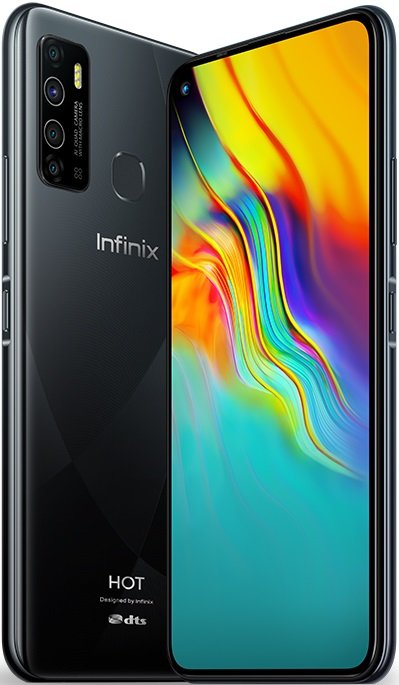Infinix Hot 9 Dual Sim (4G, 4GB, 64GB, Black) With Official Warranty