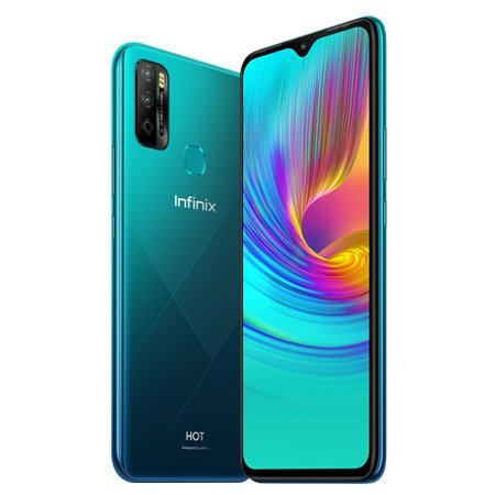 Infinix Hot 9 Play (4G 4GB 64GB Quetzal Cyan) With Official Warranty