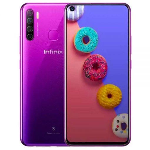 Infinix S5 Dual Sim (4G, 6GB, 128GB, Purple) with Official Warranty