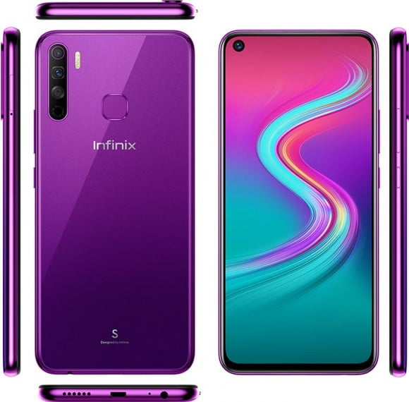 Infinix S5 lite (4G, 4GB, 64GB,Violet) With Official Warranty