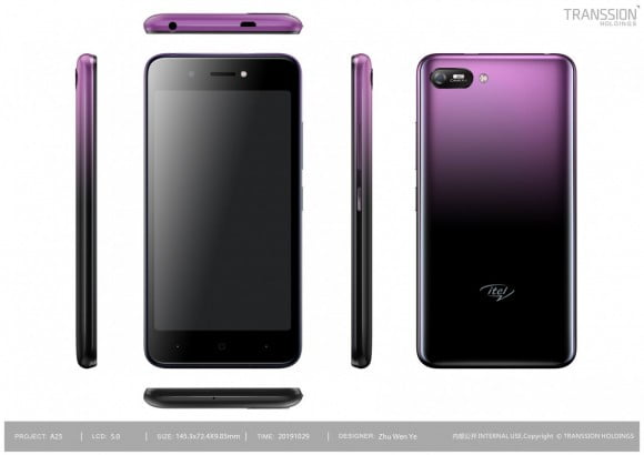 Itel A25 (4G, 1GB, 16GB, Gradation Purple) With Official Warranty
