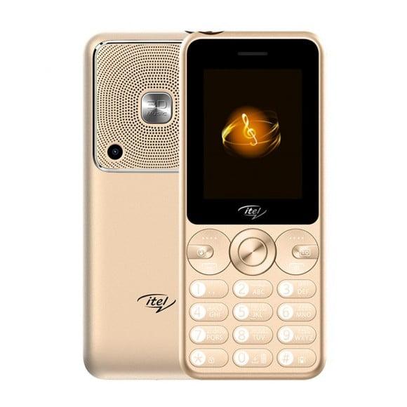 iTel Muzik 400 - 2.4'' - Dual Sim - 3000mAH Gold - Official Warranty