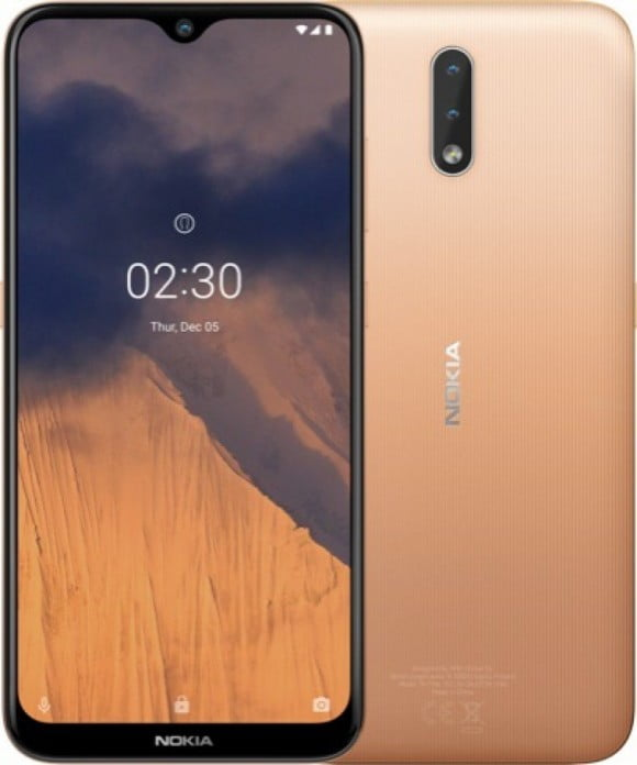 Nokia 2.3 Dual Sim (4G, 2GB,32GB,Sand) With Official Warranty