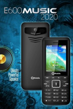 Qmobile E600 music 2020 - 2.4'' - 3000mAh Battery - Official Warranty