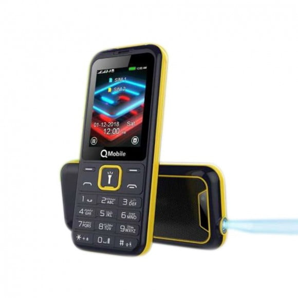 "Qmobile Gabbar 2.4"" Screen, Dual Sim - Black - Official Warranty"