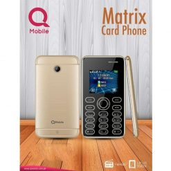 QMobile Matrix Card Phone Dual Sim With (Official Warranty)