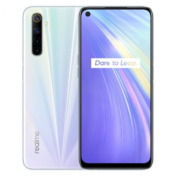 Realme 6 Dual Sim (4G, 8GB RAM, 128GB ROM,Comet White ) With Official Warranty