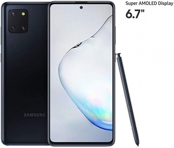 Samsung Galaxy Note 10 Lite Dual Sim (4G, 8GB, 128GB,Aura Black) - PTA Approved