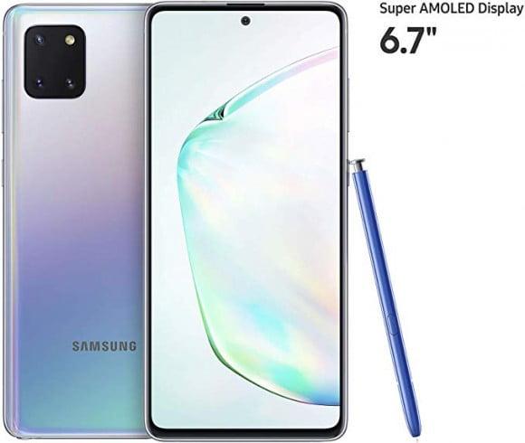 Samsung Galaxy Note 10 Lite Dual Sim (4G, 8GB, 128GB,Aura Glow) With Official Warranty