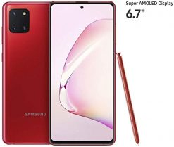 Samsung Galaxy Note 10 Lite Dual Sim (4G, 8GB, 128GB,Aura Red) - PTA Approved