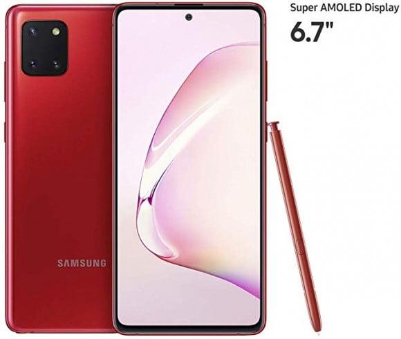 Samsung Galaxy Note 10 Lite Dual Sim (4G, 8GB, 128GB,Aura Red) With Official Warranty