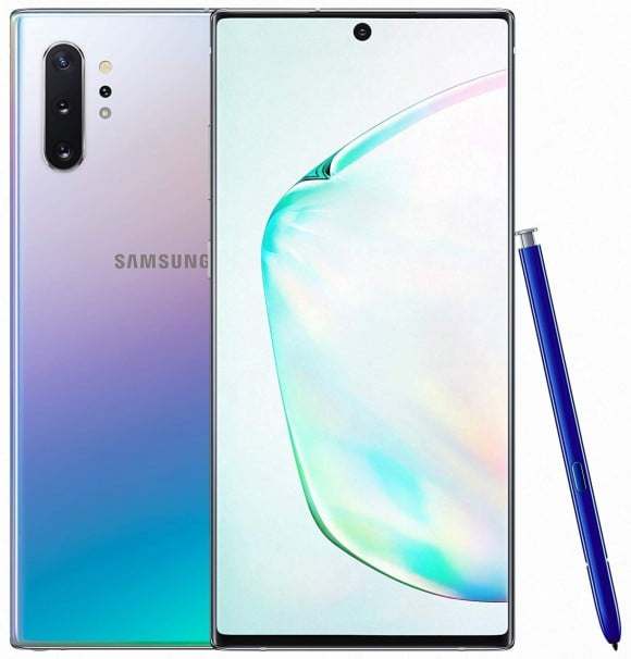 Samsung Galaxy Note 10 Plus Dual Sim (4G, 12GB RAM, 256GB ROM,Aura Glow) - PTA Approved
