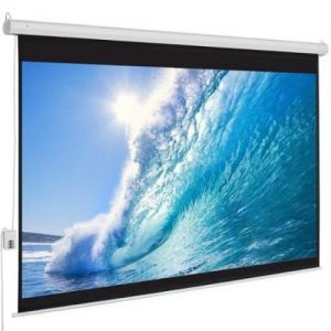 Screen 9'x12' Electric Motorised Wall Mount with Remote-in-Pakistan