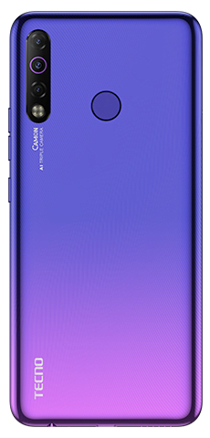 Tecno Camon 12 Air Dual Sim (4G, 4GB RAm, 64GB ROM,Stellar Purple) with 1 Year Official Warranty