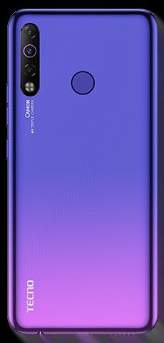 Tecno Camon 12 Air Dual Sim (4G, 4GB RAm, 64GB ROM,Stellar Purple) with 1 Year Official Warranty