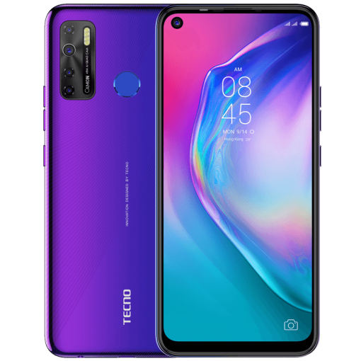 Tecno Camon 15 (4G, 4GB, 128GbGB,Fascinating Purple) With Official Warranty
