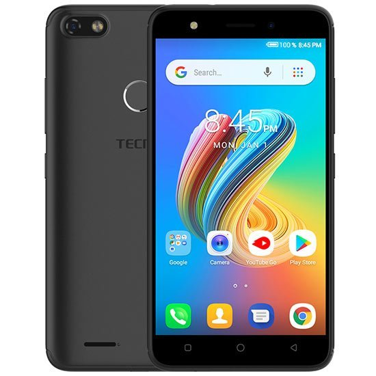 TECNO POP 2F Dual Sim (3G, 1GB RAM, 8GB ROM,Black) With 1 Year Official Warranty