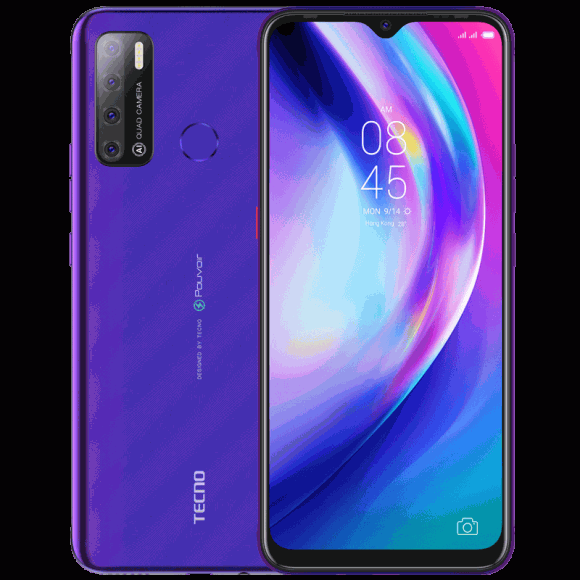 Tecno Pouvoir 4 (4G, 3GB, 32GB, Fascinating Purple) With Official Warranty