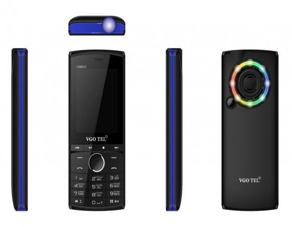 VGO TEL I Disco Black Blue with Official Warranty