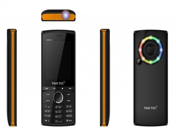 VGO TEL I Disco Black Orange Price with Official Warranty