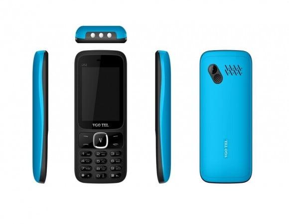 VGO TEL I252 BLACK BLUE with Official Warranty