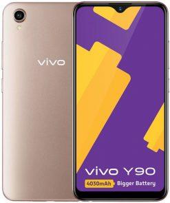 Vivo Y90 Dual Sim (4G, 2GB RAM, 32GB ROM,Gold) With 1 Year Official Warranty