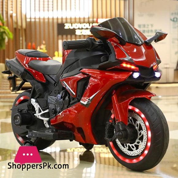 12v Kids Ride on Bike Kawasaki Ninja H2 Metallic Color