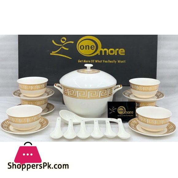 21 Pieces New Bone China Soup Set
