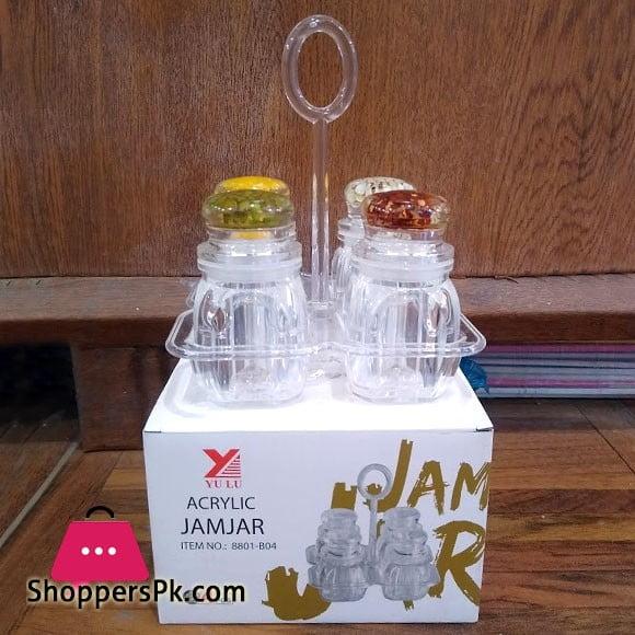 Acrylic Plastic Salt and Pepper Jar (8801-B04)
