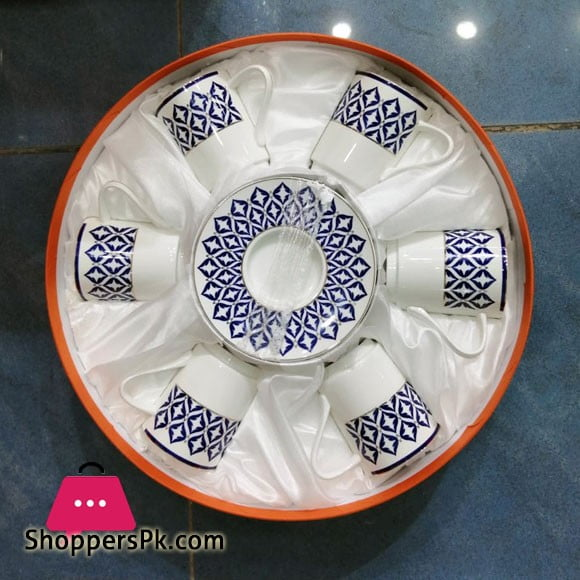 Angela Ceramic Cup Saucer Set of 6 Pcs MG24