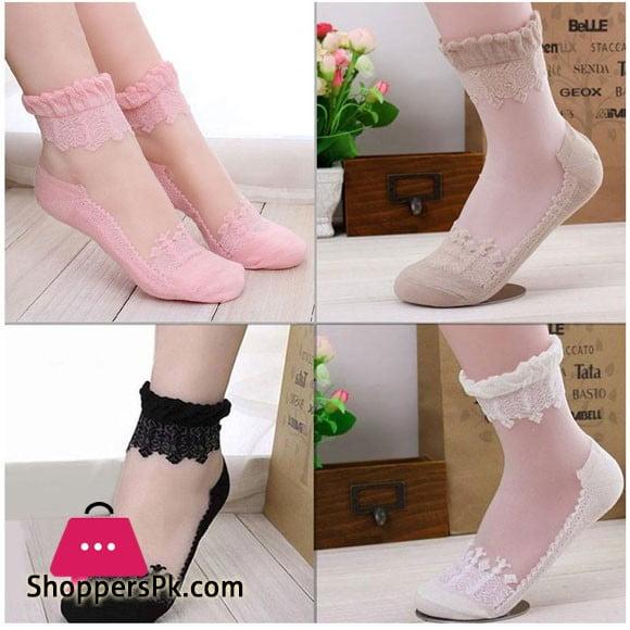 Beautiful Design Ladies Socks Pack Of 4 Pair