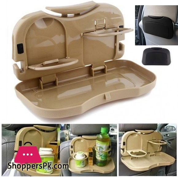 Car Food Tray with Bottle Cup Holder Travel Dining Tray
