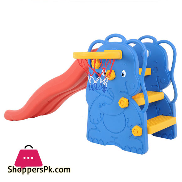 "Edu Plays Play Center ""ELEPHANT"" WITH BASKETBALL HOOP Slide For Kids WJ-311"