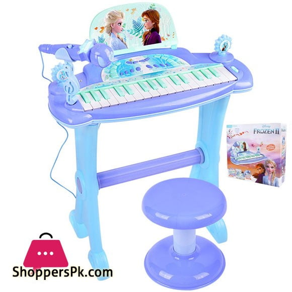 Frozen Electronic Musical Piano With Microphone