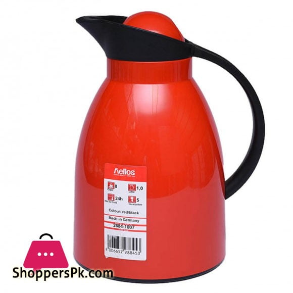 Helios Thermos Red/Black 1 Litre - SIT-2884-1007