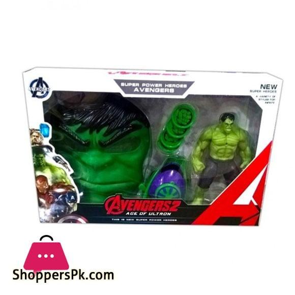 Hulk Avengers Action Figure Set For Kids