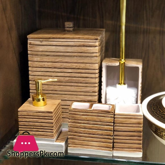 Icon Bathroom Accessories Set 7 Pcs Resin Material