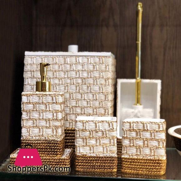 Icon Bathroom Accessories Set 7 Pcs Resin Material