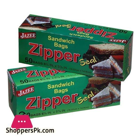 Jazee Zipper Seal Sandwich 50 Bags