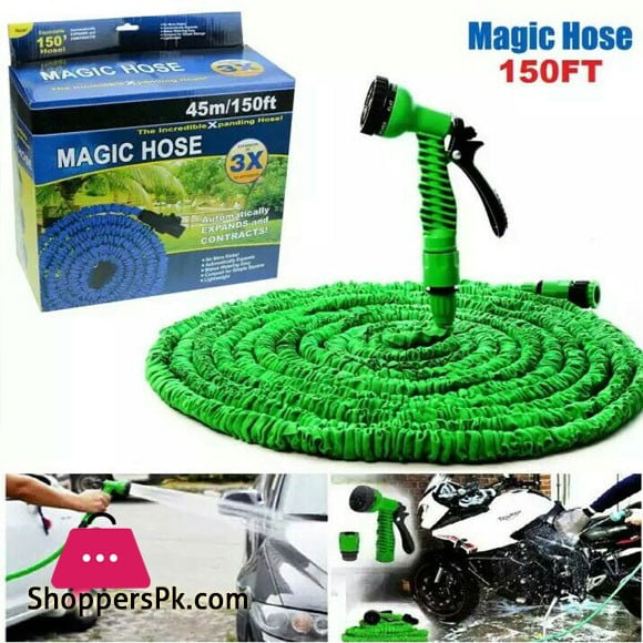 Magic Hose Pipe Water Spray Gun In Pakistan - 150 Feet