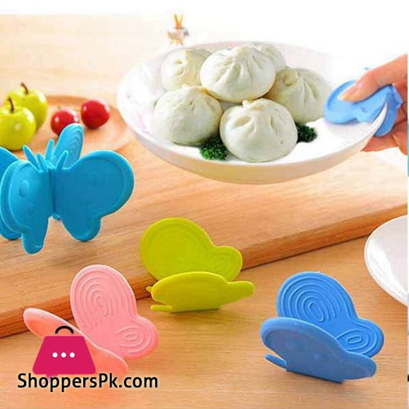 Silicone Butterfly Hot Plate Clip with Magnets 2 Pcs Set