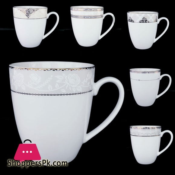 Silk Gold Fine Bone China Mug Set of 6