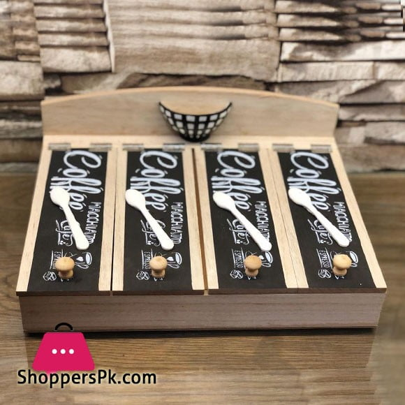 Stylish Cutlury Box Wood 009-66