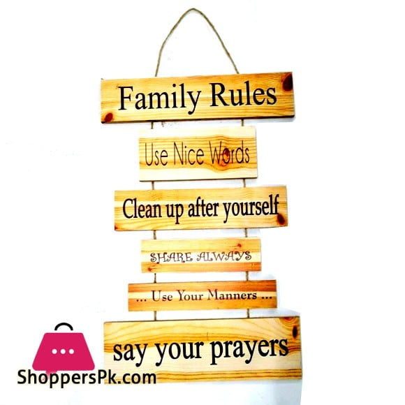 Wall Hanging Family Rules