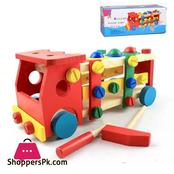 Wooden Knock Down Toy Car