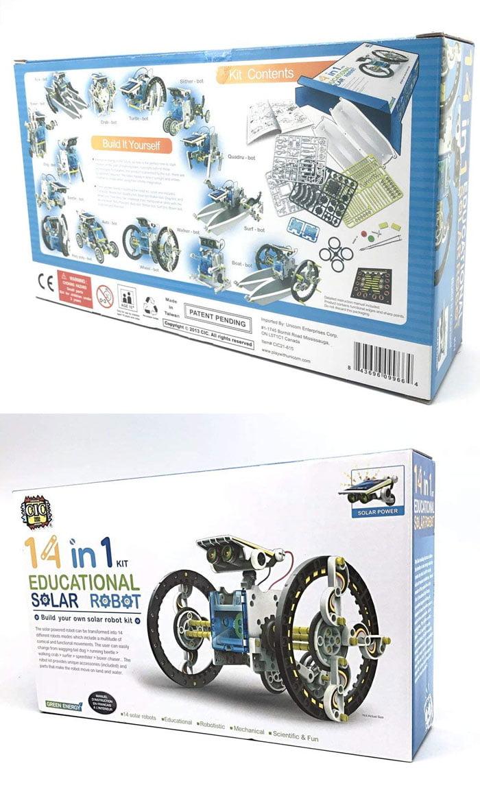14 in 1 Solar Robot kit Educational Solar Power Robot
