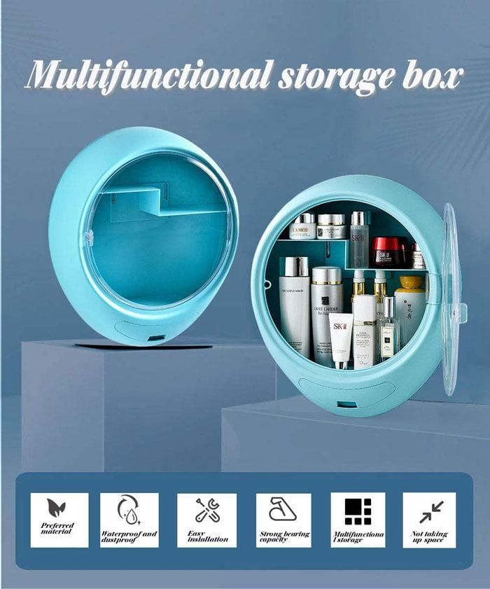 Modern Wall-Mounted Makeup Cosmetic Bathroom Organizer for Storage Box Dustproof & Waterproof