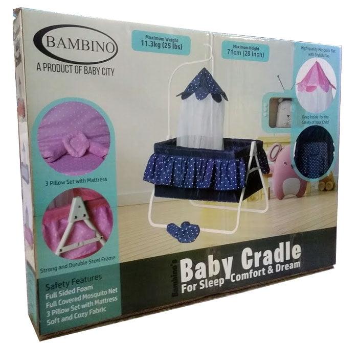 Bambino Baby Cradle Baby Swing with Mosquito Net BC-808