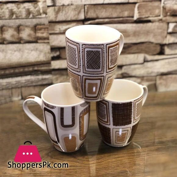 Checkered Classic Design Mug ( Set of 6 ) 44-6
